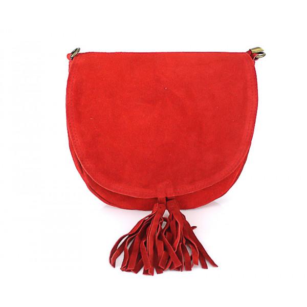 Kožená kabelka na rameno 703 červená