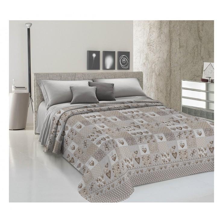 Prikrývka na posteľ Piquet Patchwork Primavera béžová
