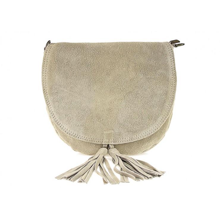 Genuine Leather Handbag 703 taupe