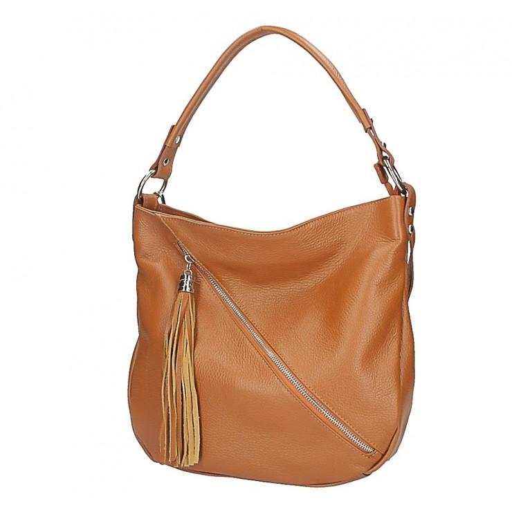 Leather shoulder bag 259 cognac