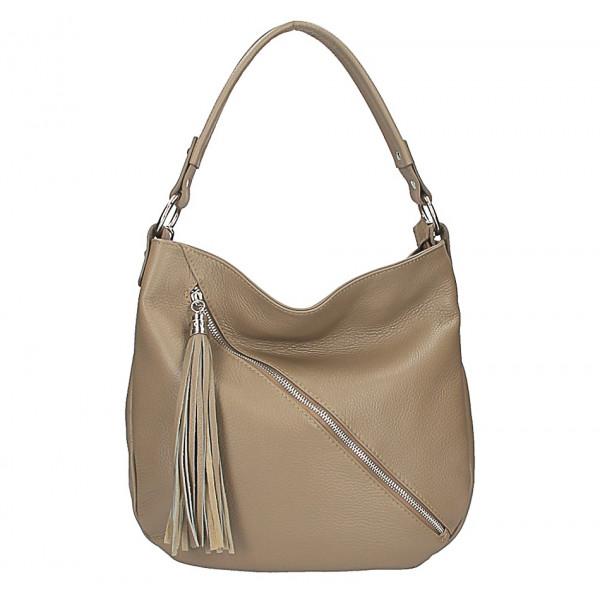 8414306885 Dámská kožená kabelka 5100 tmavě šedohnědá - MONDO ITALIA s.r.o.