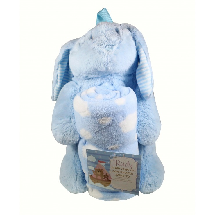 Bunny kid's backpack and kid's blanket