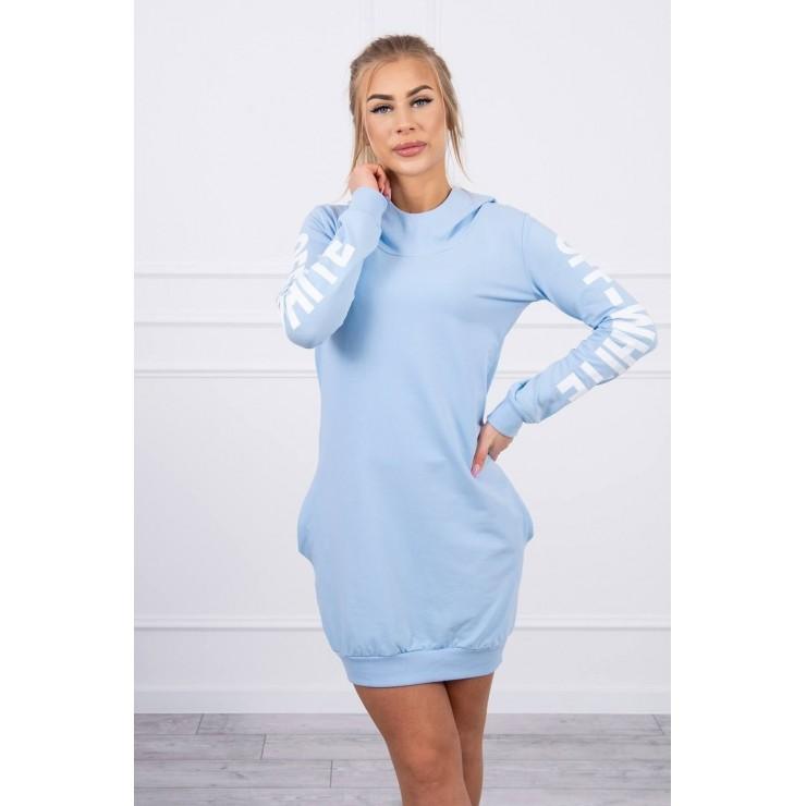 Dress Off White MI62182 light blue