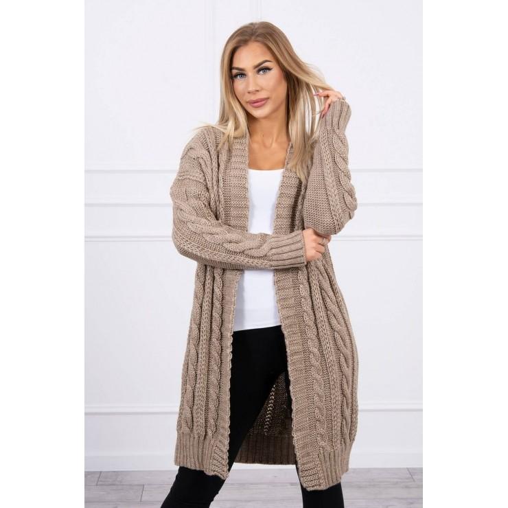 Women's knit sweater MI2019-21 dark beige