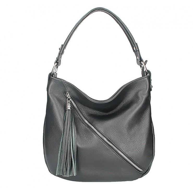 Dámska kožená kabelka 259 čierna