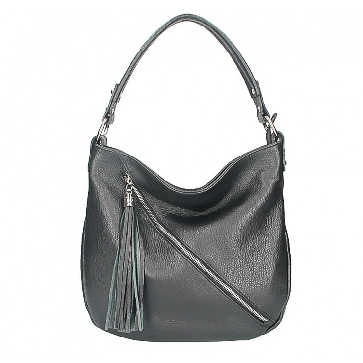 Leather shoulder bag 259 black