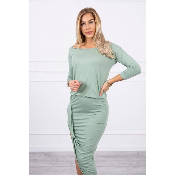 Women's asymmetrical dress MI8923 dark mint