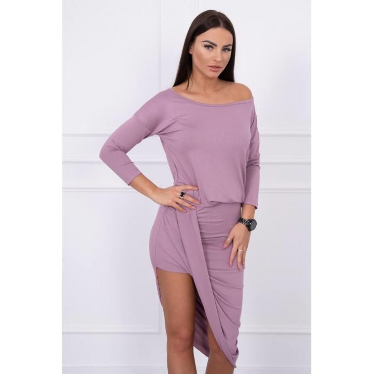 Women's asymmetrical dress MI8923 dark pink