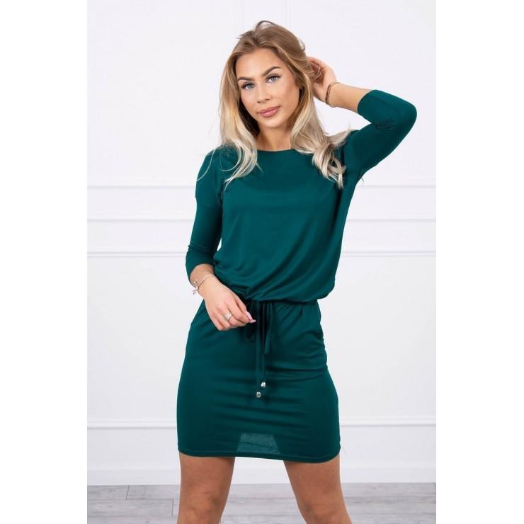 Women's dress tied at the waist MI9013 green