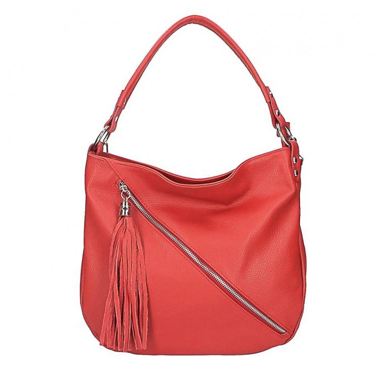 Dámska kožená kabelka 259 červená