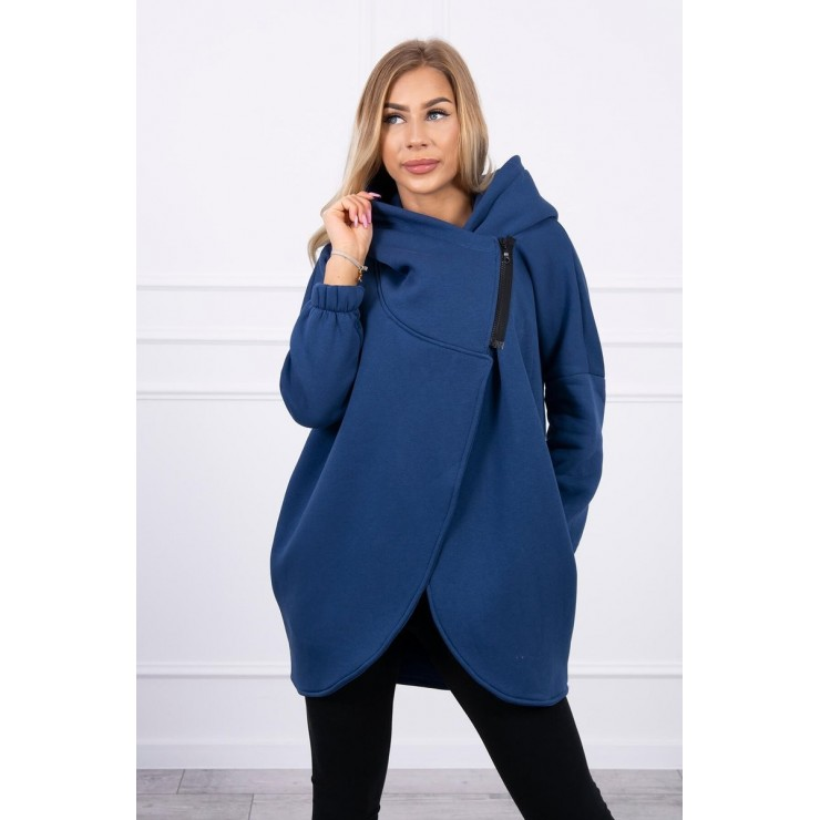 Women's sweatshirt with short zipper MI9110 jeans