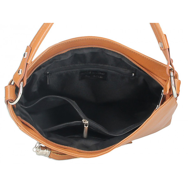 Dámska kožená kabelka 259 tmavohnedá