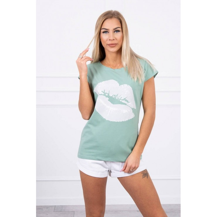 Women T-shirt MI8985 dark mint