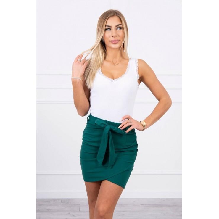 Dámska sukňa previazaná v páse MI8984 zelená