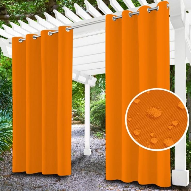 Záhradný záves do altánku na krúžkoch MIG143 oranžový