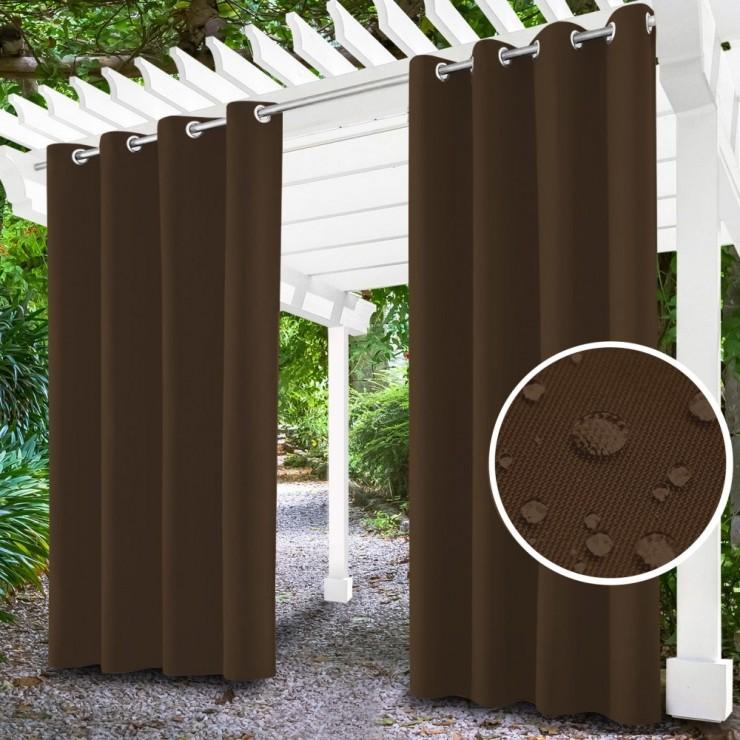 Záhradný záves do altánku na krúžkoch MIG143 hnedý