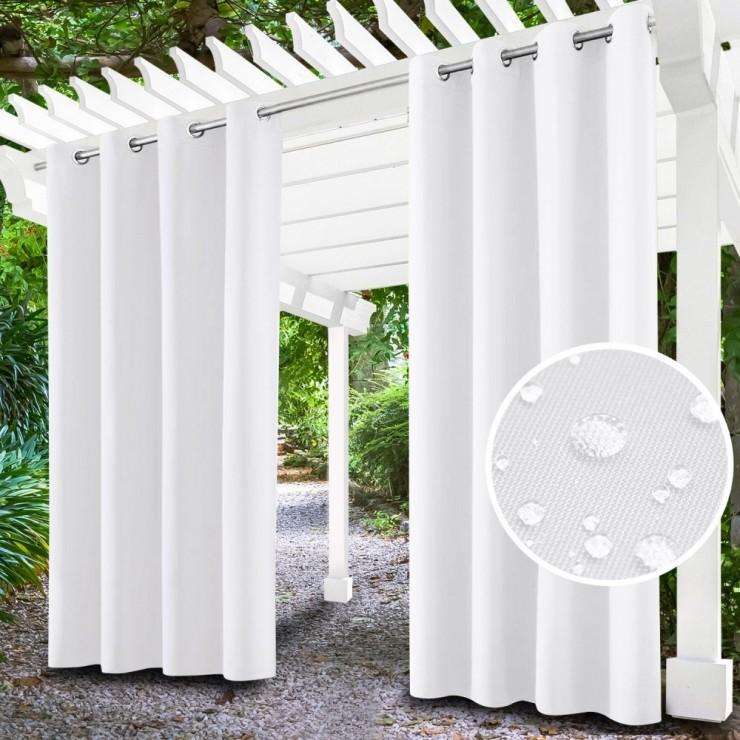 Záhradný záves do altánku na krúžkoch MIG143 biely