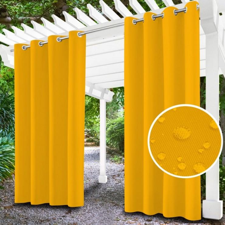 Záhradný záves do altánku na krúžkoch MIG143 žltý