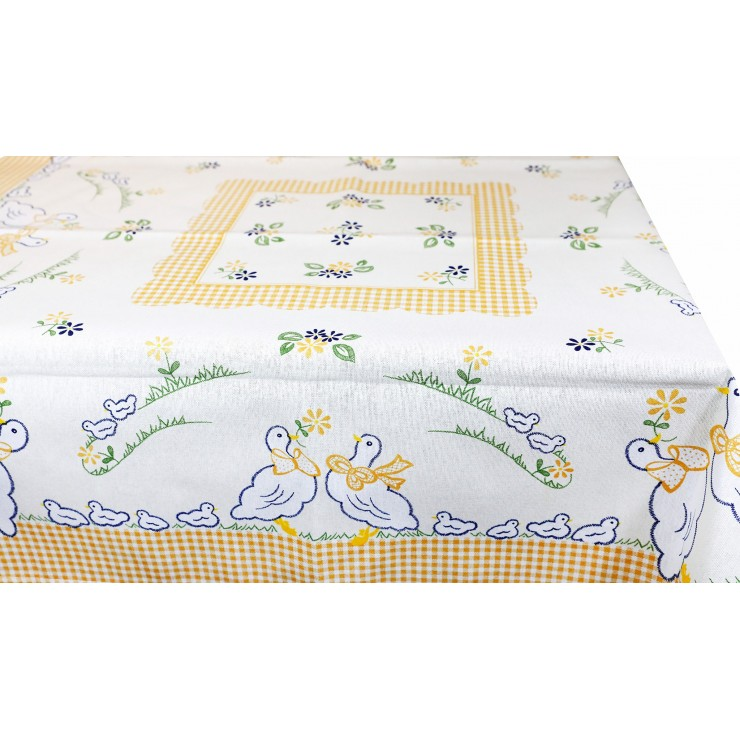 Cotton tablecloth Goose 90x90 cm Made in Italy