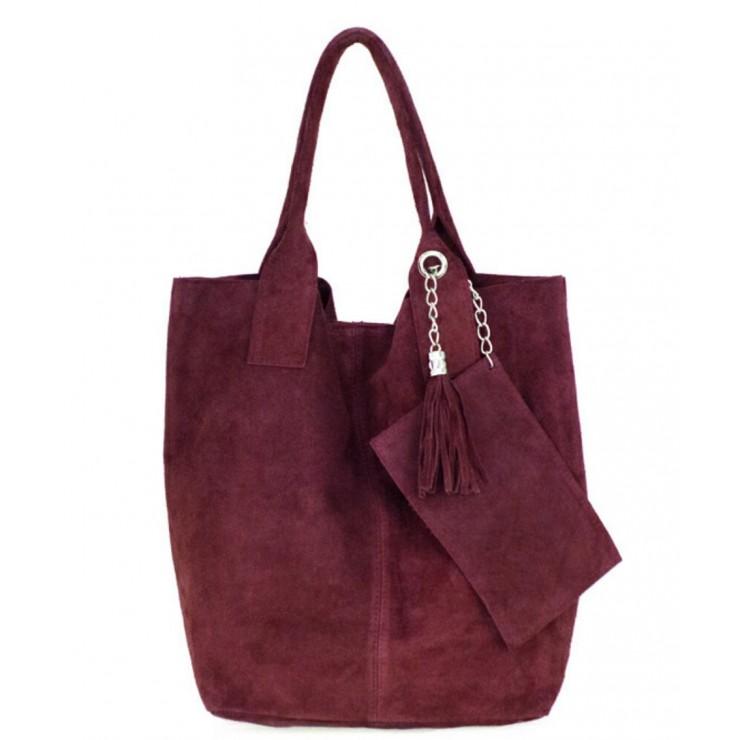 Genuine Leather Maxi Bag  804 bordeaux