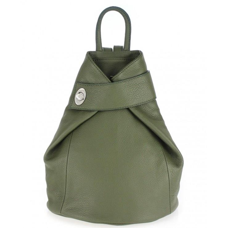 Kožený batoh 443  vojensky zelený