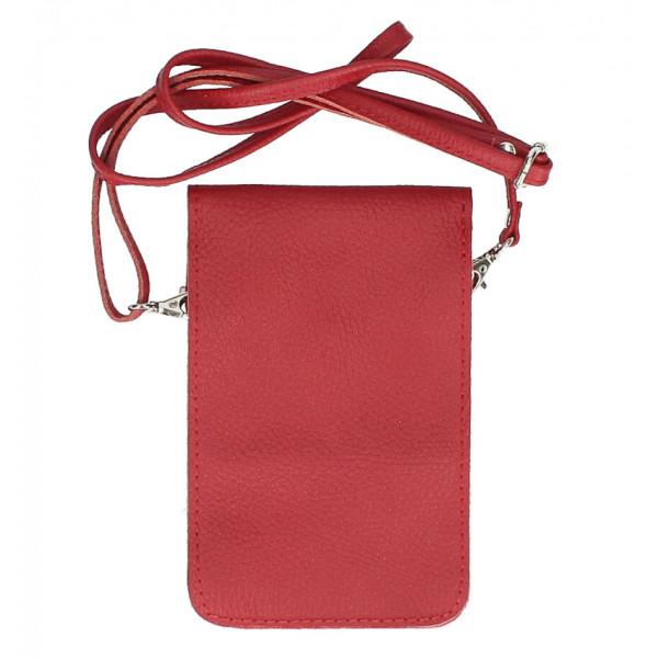 Kožené púzdro na mobil MI895 tmavočervené Made in Italy Červená