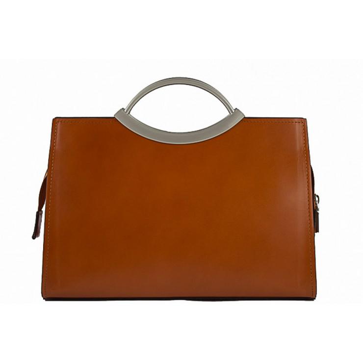 Talianska kožená kabelka 90 koňaková