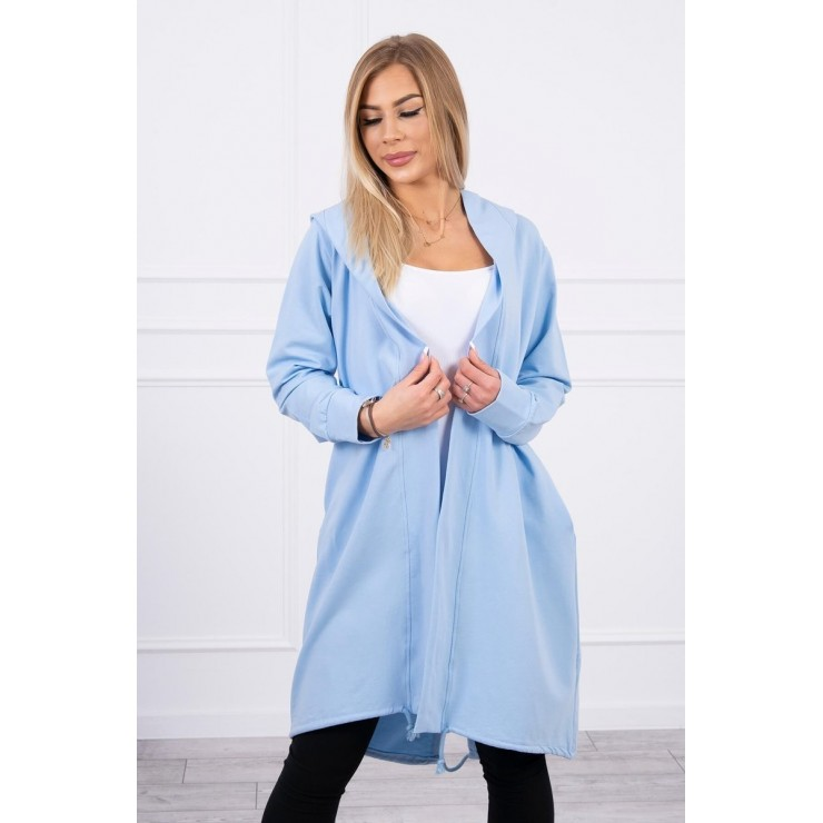 Long cardigan oversize MI9005 sky blue