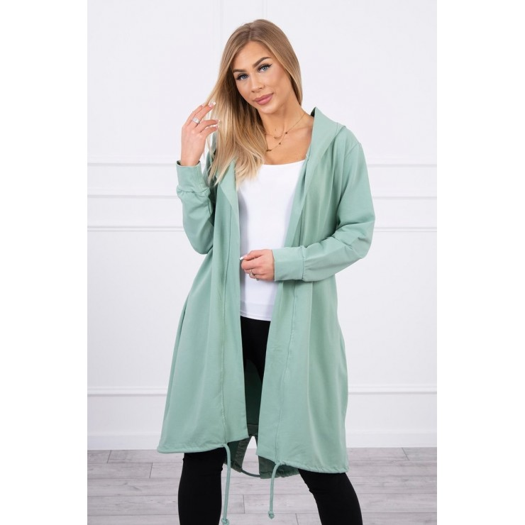 Long cardigan oversize MI9005 dark mint