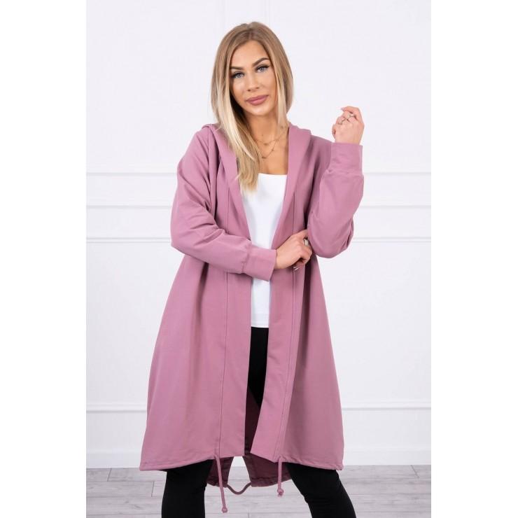 Long cardigan oversize MI9005 dark pink