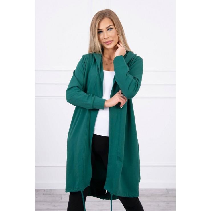 Long cardigan oversize MI9005 green