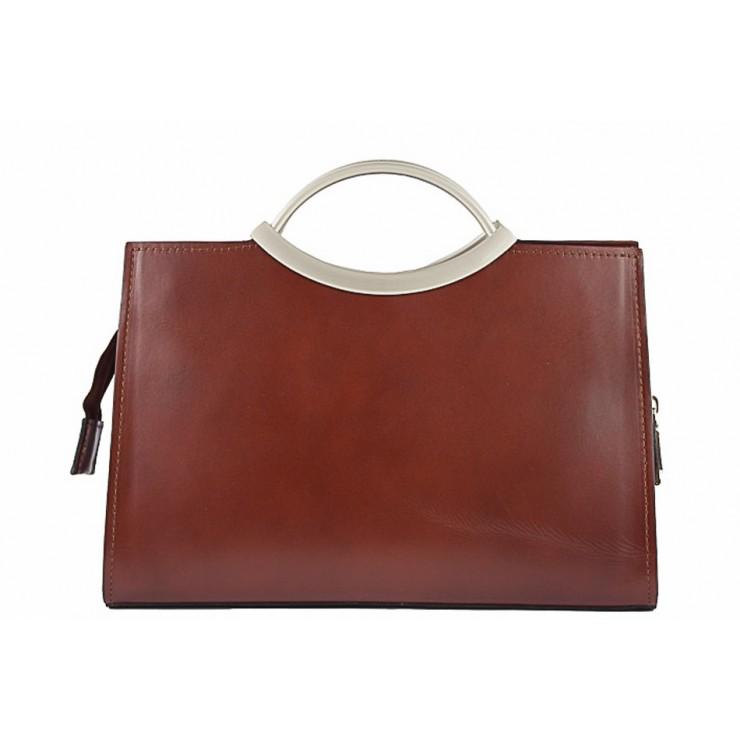 Genuine Leather Handbag 90 brown