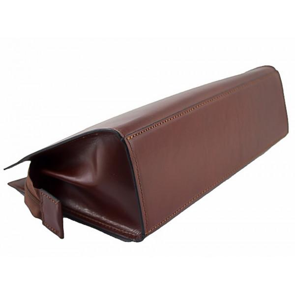 Talianska kožená kabelka 90 hnedá