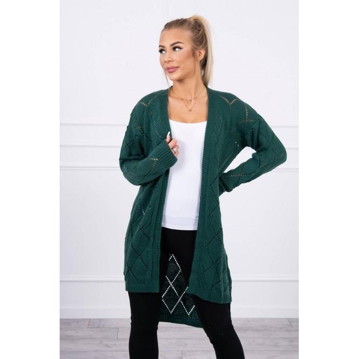 Dámský svetr s geometrickým vzorem MI2020-4 zelený