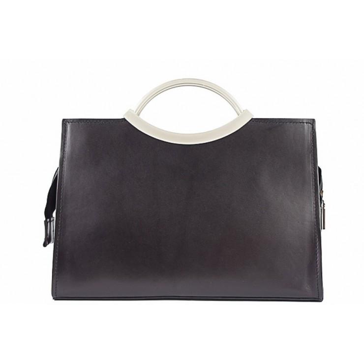 Talianska kožená kabelka 90 čierna
