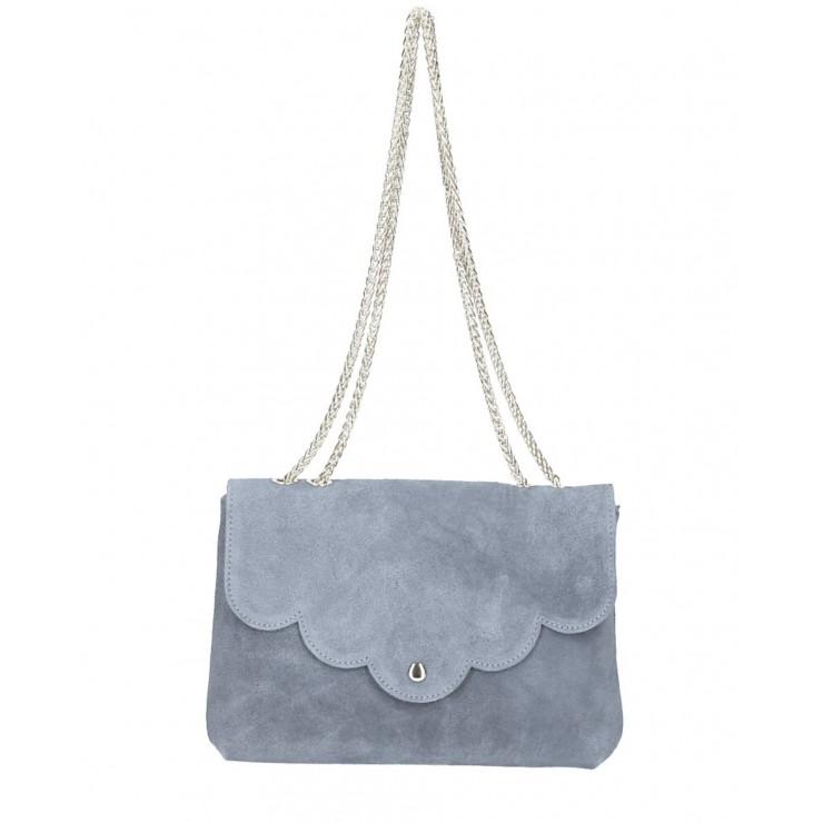 Genuine Leather Handbag MI164 Made in Italy gray