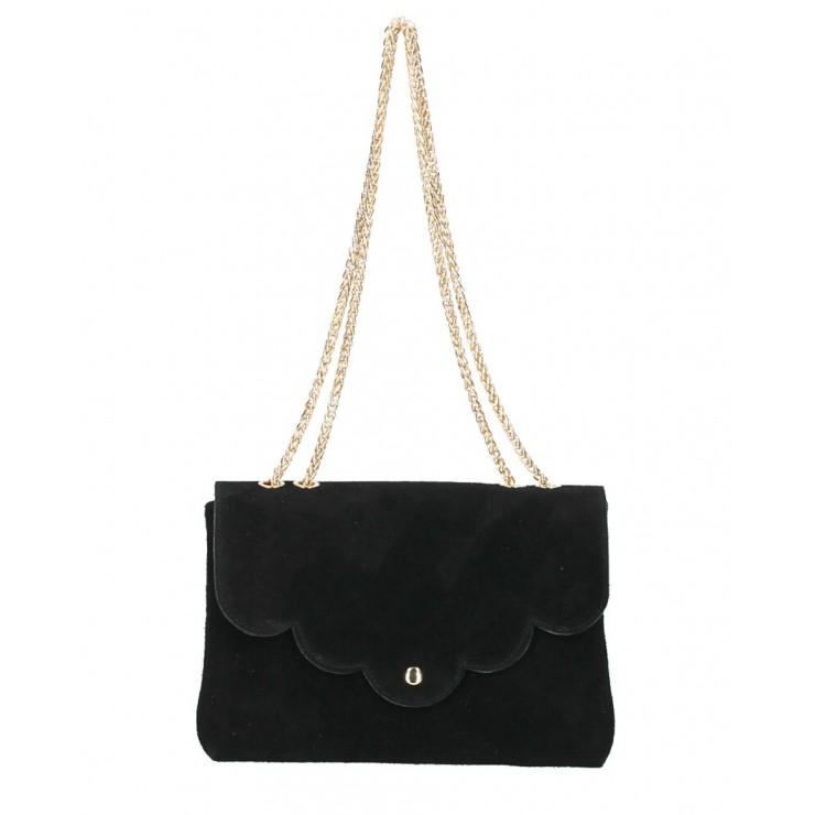 Genuine Leather Handbag MI164 Made in Italy black