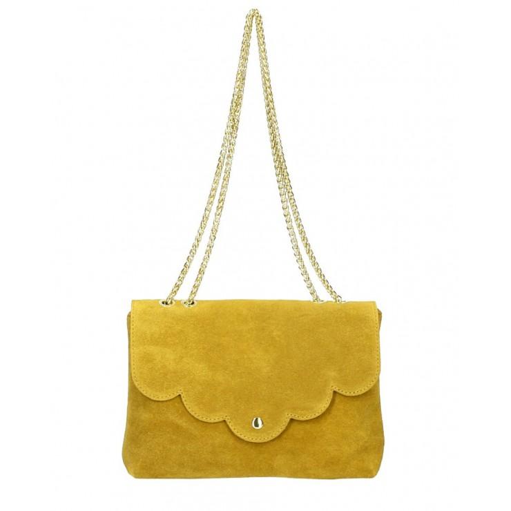 Genuine Leather Handbag MI164 Made in Italy mustard