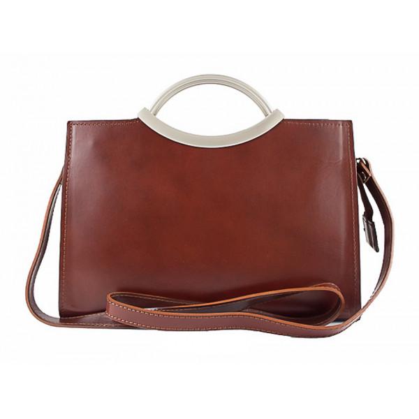 Talianska kožená kabelka 90 červená