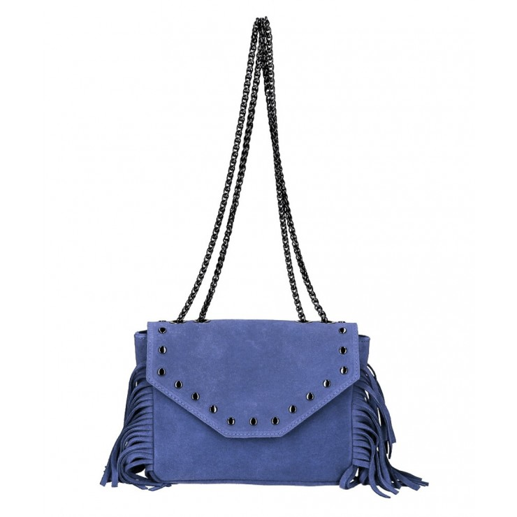 Suede Leather Bag with fringes 381 Made in Italy jeans