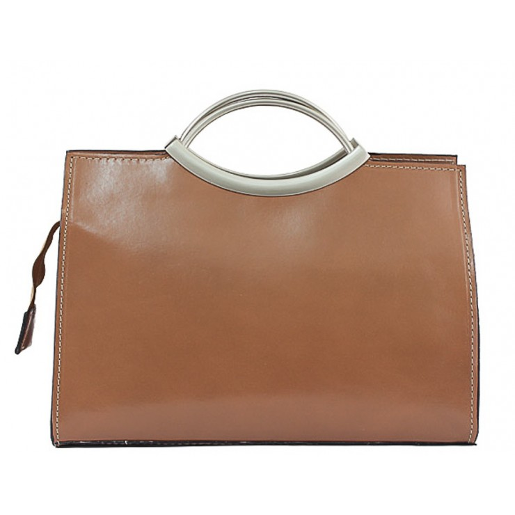 Talianska kožená kabelka 90 šedohnedá
