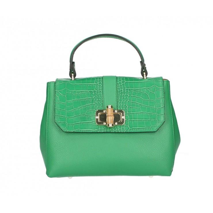 Kožená kabelka 398 Made in Italy zelená