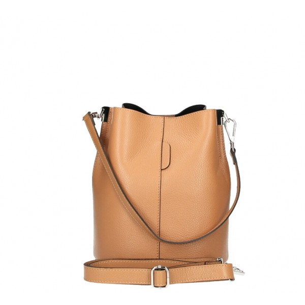 Kožená kabelka 401 Made in Italy béžová Béžová