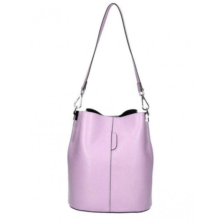 Kožená kabelka 401 Made in Italy fialová