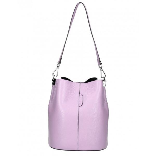 Kožená kabelka 401 Made in Italy fialová Fialová