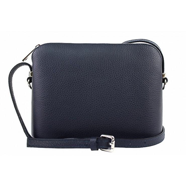 Kožená kabelka na rameno 1310 tmavomodrá