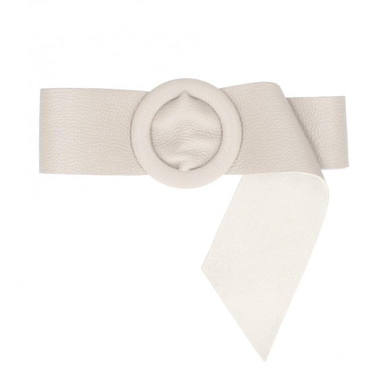 Women leather belt 224 Made in Italy beige