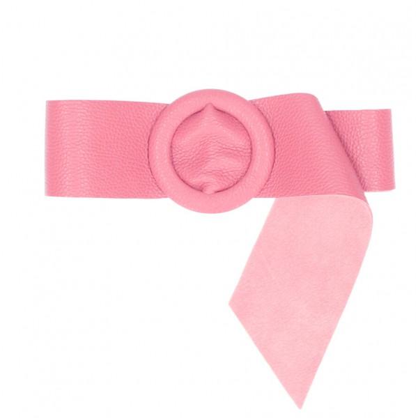 Dámsky kožený opasok 224 Made in Italy ružový Ružová