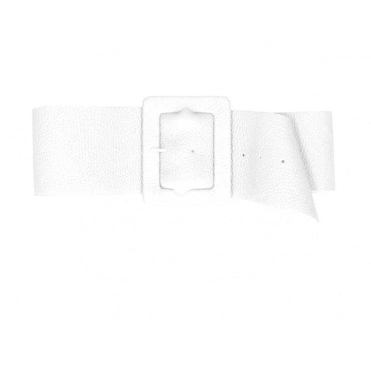 Dámsky kožený opasok 339 Made in Italy biely