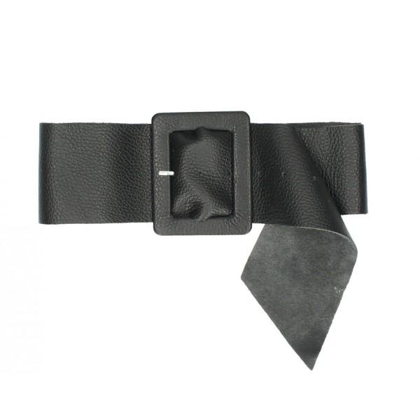 Dámsky kožený opasok 339 Made in Italy čierny Čierna